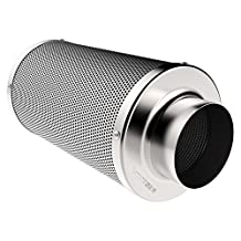VIVOSUN 8 Inch Air Carbon Filter Odor Control with Australia Virgin Charcoal for Inline Fan Pre-filter Included