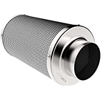 VIVOSUN 8 Inch Air Carbon Filter Odor Control with Australia Virgin Charcoal for Inline Fan, Pre-filter Included, Reversible Flange