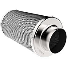 VIVOSUN 6 Inch Air Carbon Filter Odor Control with Australia Virgin Charcoal for Inline Fan, Pre-filter Included, Reversible Flange