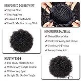 LONG YAO Afro Puff Drawstring Ponytail Human Hair