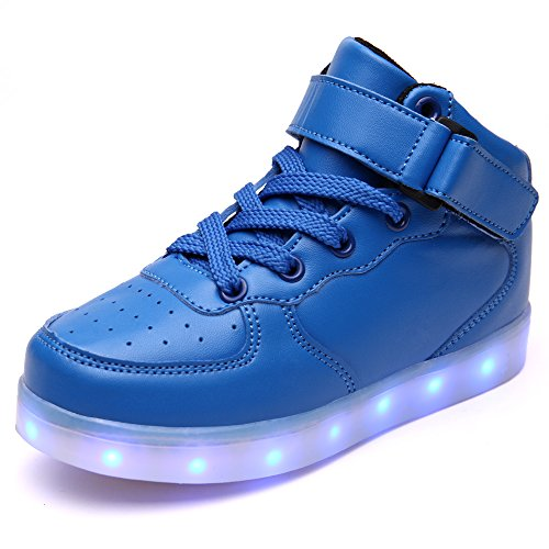 Pictures of VILOCY Kids Boys Girls High Top USB Blue 11 M US Little Kid 1