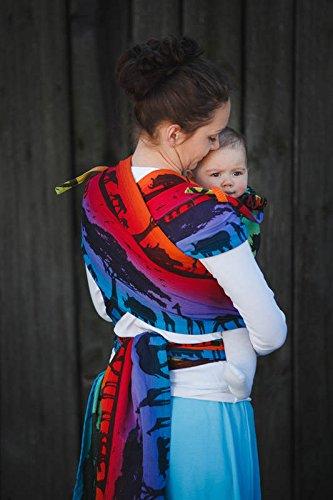 c03893255d1 Amazon.com   Lenny Lamb Wrap Tai Child Carrier Mini Baby Size Rainbow  Safari 2.0   Baby