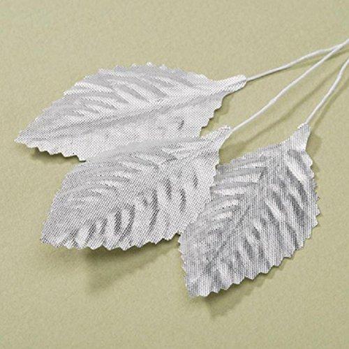 Victoria Lynn Single Rose Leaf - Metallic Silver - 2.5 inches - 12 - Hours Store Gardens Victoria