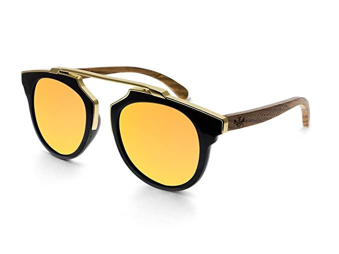 Gafas de sol MOSCA NEGRA ® modelo MIX GOLD Orange - Polarized - Woodsunglasses