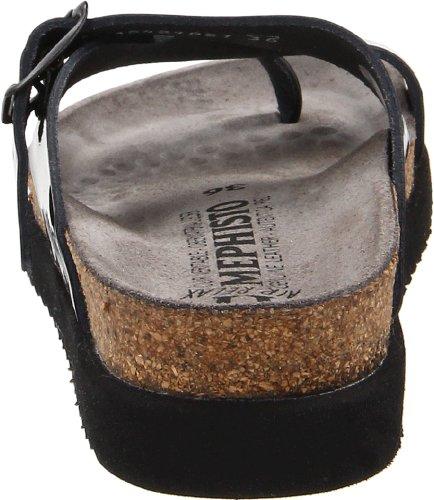 Mephisto HELEN SANDANYL 2800 BLACK P1466218 - Chanclas de cuero para mujer negro (black patent)