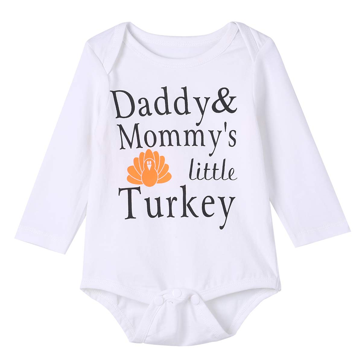 9b815b67d Baby Boys Girls 4PCS Daddy Mommy's Little Turkey Cute Outfit Clothes ...