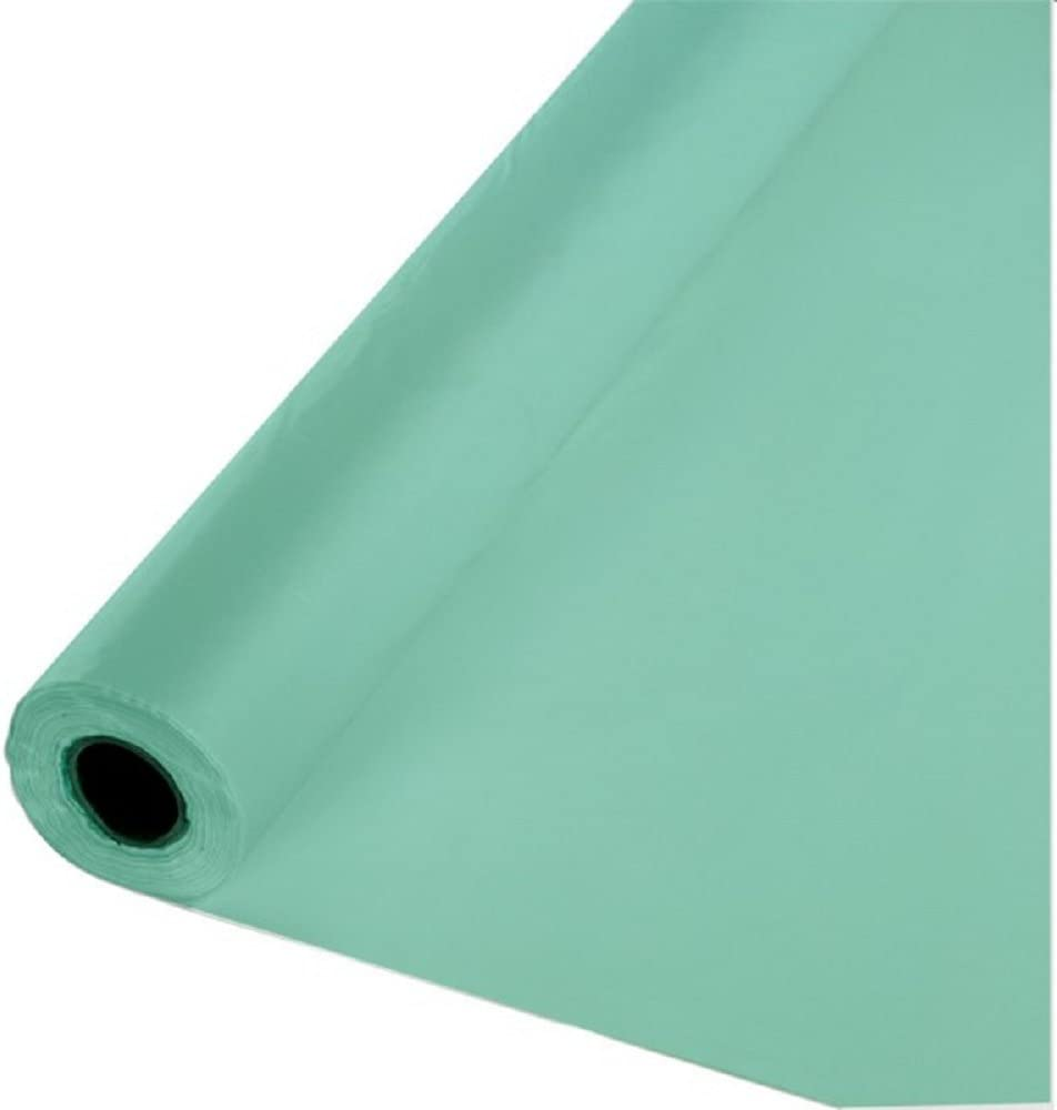 """Green 40/""""x100 ft Heavy Duty  Banquet Roll Plastic Table Cloth"""