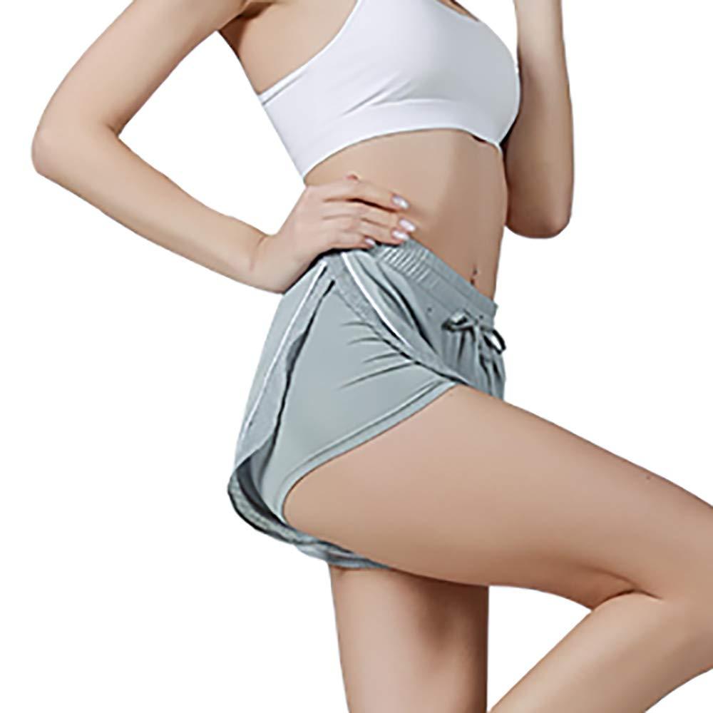 SKYSPER Pantaloncini Sportivi Donna Traspirante Comodo Shorts Donna Sportivi Asciugatura Rapida Elastico Pantaloni Corti Donna per Yoga Fitness Corsa Nuoto Taglia S-L