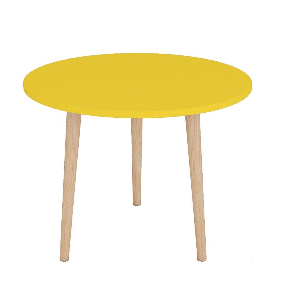 XIAOLIN リビングルームベッドルームバルコニー小さなコーヒーテーブルダイニングテーブルティーテーブルコンピュータデスクシンプルなミニテーブルベッドヘッドテーブルラウンドテーブルサイドテーブルコーナーテーブル小さなラウンドテーブルソファエッジ実用的で美しいオプションの色、サイズ (色 : イエロー いえろ゜, サイズ さいず : 40*42cm) B07F36N7WX 40*42cm|イエロー いえろ゜ イエロー いえろ゜ 40*42cm