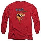 Uncle Grandpa Pizza Steve 2X Cotton T-Shirt Red Adult Men's Unisex Long Sleeve T-Shirt