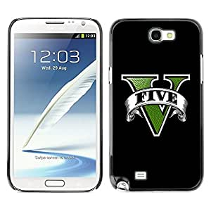 LECELL -- Funda protectora / Cubierta / Piel For Samsung Galaxy Note 2 N7100 -- Five Game --