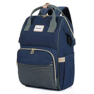 Diaper Bag Backpack Maternity Tote - 2020 New Edition Bessentials Multifunction Baby Diaper Bags Waterproof - Travel Back Pack Large Capacity with Organizing Pouches, Macaron Blue