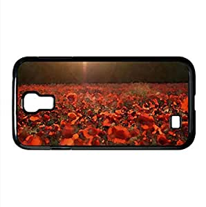 Poppies Meadow Watercolor style Cover Samsung Galaxy S4 I9500 Case (Summer Watercolor style Cover Samsung Galaxy S4 I9500 Case)
