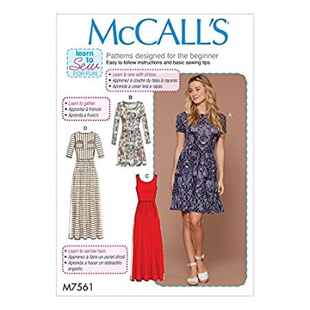 Mccalls Ladies Easy Learn To Sew Sewing Pattern 7561 Jersey Knit
