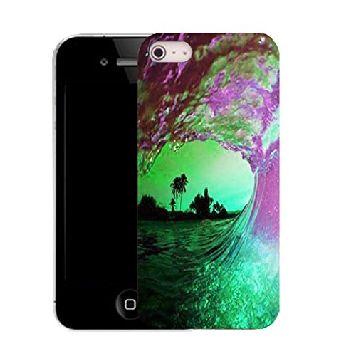 Mobile Case Mate iPhone 5c clip on Silicone Coque couverture case cover Pare-chocs + STYLET - tidal water pattern (SILICON)
