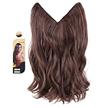 """creamily? #2/30 Dark Brown 14"""" Ombre Dip Dye Flip In Secret Miracle Wire Hair Extensions Synthetic Curly Wave Hairpieces 14"""""""