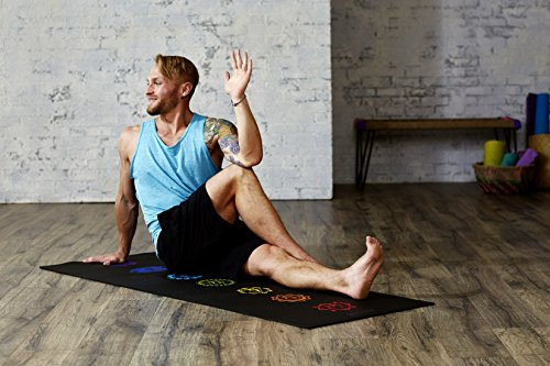 "Gaiam Yoga Mat Premium 6mm Print Extra Thick Exercise & Fitness Mat for All Types of Yoga, Pilates & Floor Exercises (68"" x 24"" x 6mm Thick)"