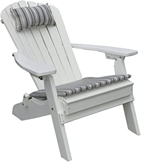 product image for Poly Folding and Reclining Fanback Adirondack Chair - White