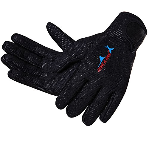 es 1.5mm Anti Slip Full Finger for Snorkeling Swimming Scuba Diving Surfing Sailing Kayaking (Neoprene Full Finger)