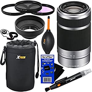 Sony E 55-210mm f/4.5-6.3 OSS E-Mount Telephoto Zoom Lens - Silver - International Version (No Warranty) for a3000, a5000, a6000, Alpha NEX-3, NEX-3N, NEX-5N, NEX-5R, NEX-5T, NEX-6, NEX-7 & NEX-F3 Digital Cameras, NEX-VG30, NEX-VG30H & NEX-VG900 Interchan