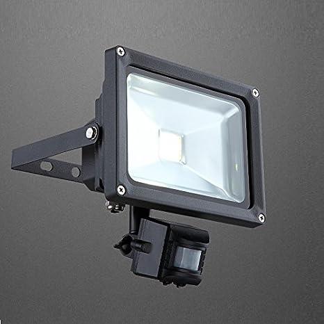 20W Foco proyector Led con detector de movimiento, 36V, de aluminio, fundido oscuro