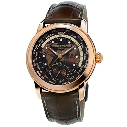 Frederique Constant Brown Dial Leather Strap Men's Watch FC-718BRWM4H4