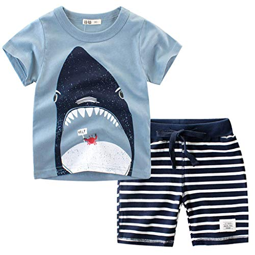 RAINED-Baby Boys Gentleman Outfits Suits, Infant Short Sleeve Shirt+Bib Pants+Bow Tie Overalls Clothes Set 4th of July ()