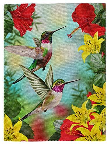 pingpi Hummingbird Garden Flag Banner 12.5