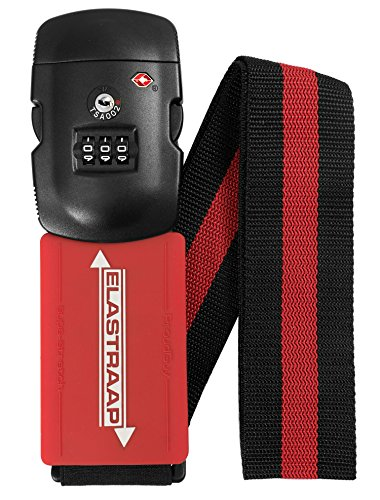 Airport Security Luggage - Luggage Strap ELASTRAAP Superior Strength NON-SLIP with TSA Combination Lock