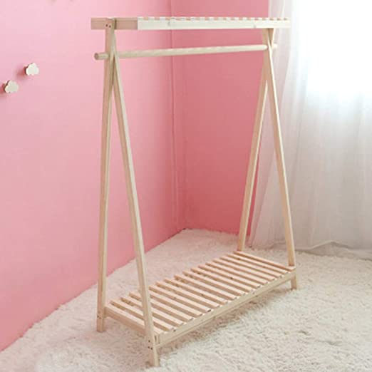 Amazon.com: Perchero de pared de madera maciza para montaje ...