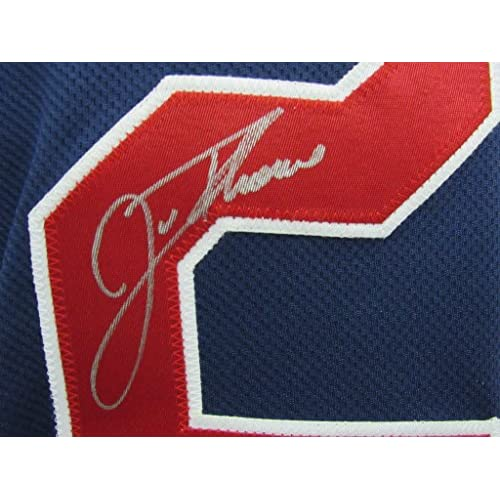 new styles e06b4 91b6b Jim Thome Cleveland Indians Signed Blue Majestic Indians ...