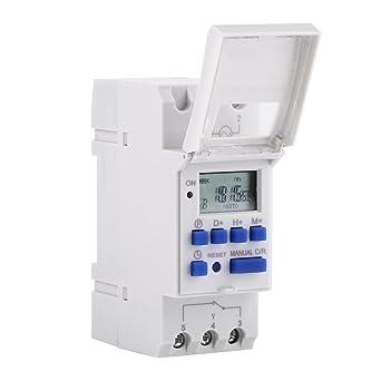 THC 15A Interruptor de Temporizador Digital Interruptor de Temporizador Programable Semanal 16 On y Off (