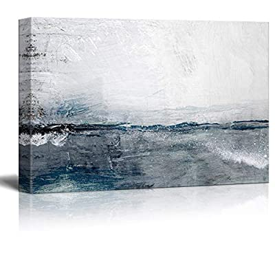Abstract Ocean Seascape Painting on The Wall, Made With Love, Lovely Object of Art
