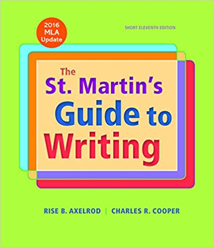 Amazon the st martins guide to writing short edition with the st martins guide to writing short edition with 2016 mla update eleventh edition fandeluxe Choice Image