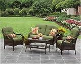 Cheap Better Homes and Gardens Azalea Ridge 4-Piece Patio Conversation Set, Seats 4