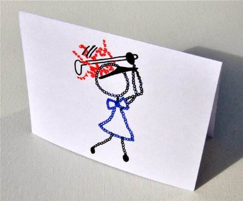 Pga Golf Card - Golf Girl Note Cards