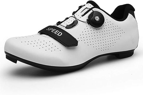Zapatillas de Ciclismo de Carretera para Hombre y Mujer Zapatillas de Bicicleta de montaña Antideslizantes y Transpirables: Amazon.es: Zapatos y complementos