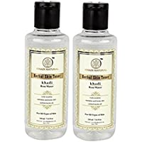 Khadi Natural Rose Water Herbal Skin Toner, 210ml (Pack of 2)