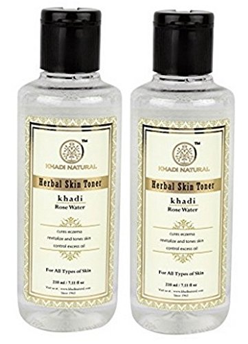 Khadi Natural Rose Water, 210ml (Pack of 2) B00ZTY5LJM