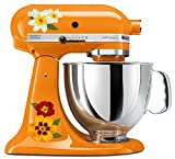 Pretty Lily and Garden Flower Mixer Mixing Machine Decal Art Set