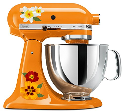 Pretty Lily and Garden Flower Mixer Mixing Machine Decal Art Set by Milk Mug Designs (Image #1)