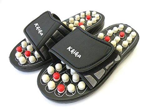 Kkika Sandal Reflex Massage Slippers Acupuncture Foot Healthy Massager Shoe For Man 6-7.5/Women 6.5-8.5