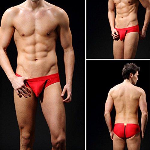 Interior De Hombre 2 m l Calzoncillos Unidades Rojo Abierta Transpirable Para Xxyy Malla xl Tallas S Ropa 0Ewzdzq