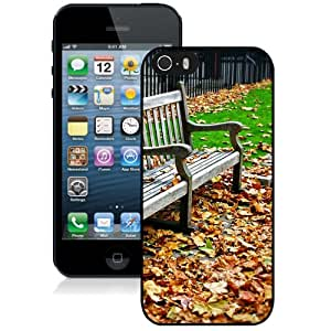 Bench And Deciduous Hard Plastic iPhone 5 5S Protective Phone Case