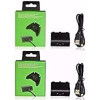 Kit Com 2 Baterias Carregador Usb Para Controle - Xbox One.