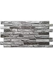 PVC väggpaneler 3D dekorativa plattor beklädnad - skiffer silver (10 delar)
