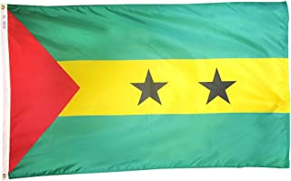 product image for Annin Flagmakers Model 197133 Sao Tome & Principe Flag 3x5 ft. Nylon SolarGuard Nyl-Glo 100% Made in USA to Official United Nations Design Specifications.