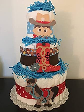 Amazon Cowboy Theme Diaper Cake Cowboy Diaper Cake Cowboy