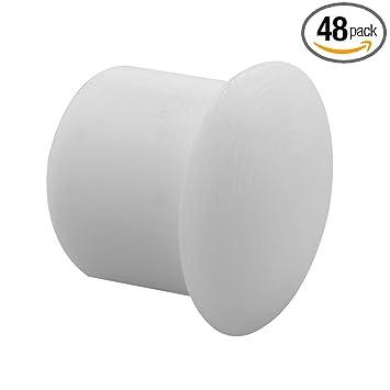 Prime Line Products U 10033 Shelf Peg Hole Plugs, 5mm, Plastic, White