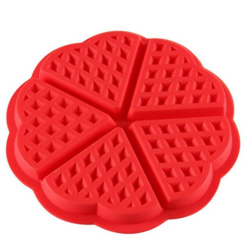 Set Silicone Bakeware Solutions (Hunzed Cake Mould, { Silicone Cake Mold } { Heart Waffles Bakeware Mould Chocolate Pan } Kitchen Baking Tool)
